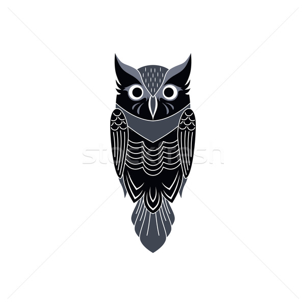 decorative owl art Stock photo © vector1st