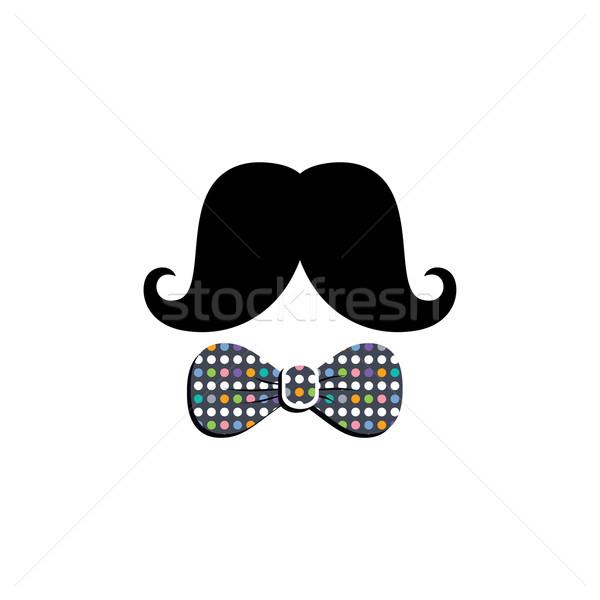 Moustache vecteur art illustration heureux Photo stock © vector1st