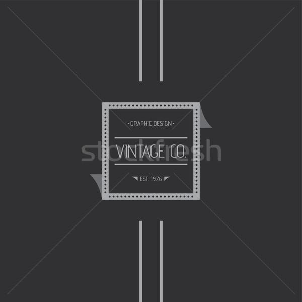Vintage etiqueta vetor gráfico arte ilustração Foto stock © vector1st