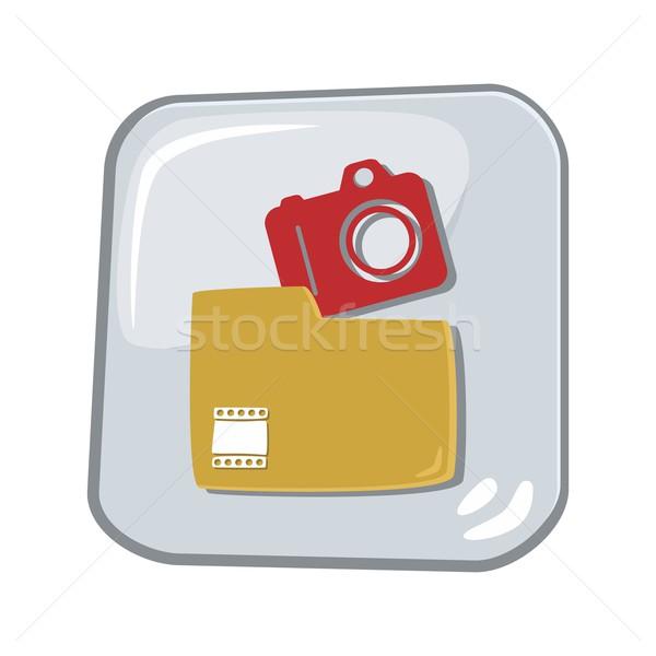 アイコン ボタン 芸術 ベクトル グラフィック ストックフォト © vector1st
