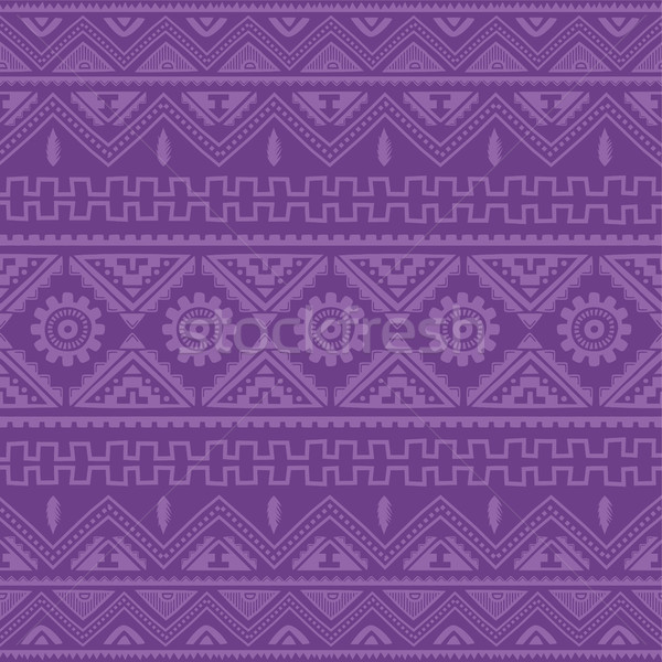 purple native american ethnic pattern Stock photo © vector1st