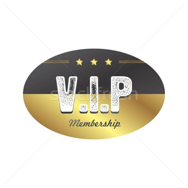 Vip miembro placa vector arte ilustración Foto stock © vector1st