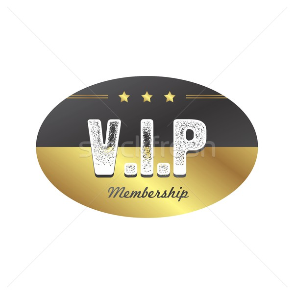 Vip член Знак вектора искусства иллюстрация Сток-фото © vector1st
