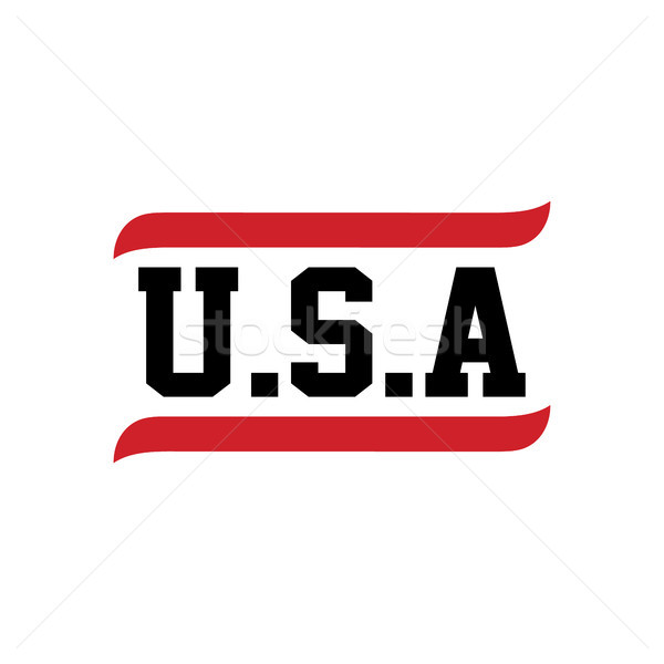 black red text usa Stock photo © vector1st