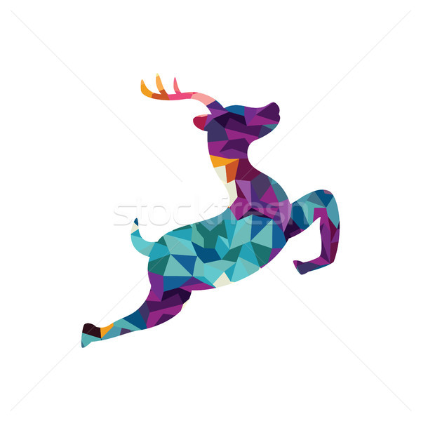 deer colorful mosaic pattern Stock photo © vector1st