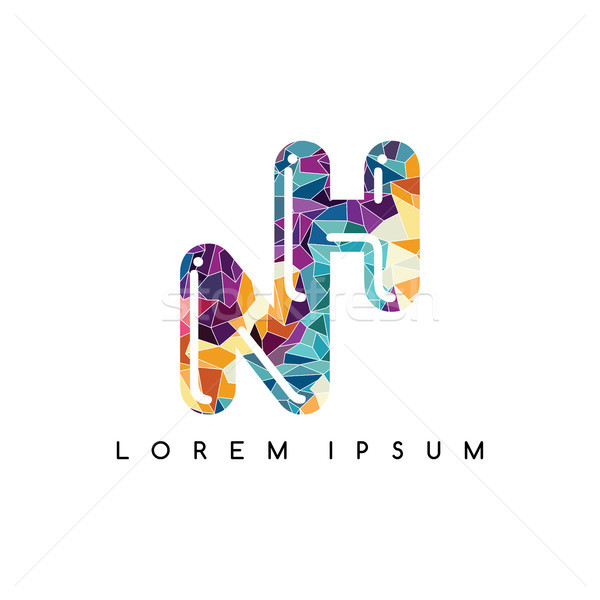letter initial logotype logo abstract colorful geometrical Stock photo © vector1st