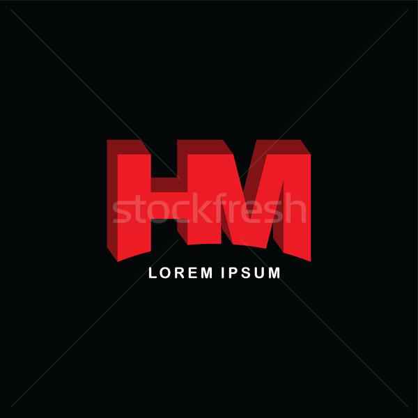 Kırmızı mektup marka logo şablon Stok fotoğraf © vector1st