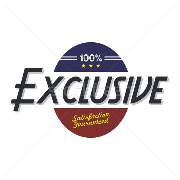 Esclusivo qualità badge prodotto vettore arte Foto d'archivio © vector1st