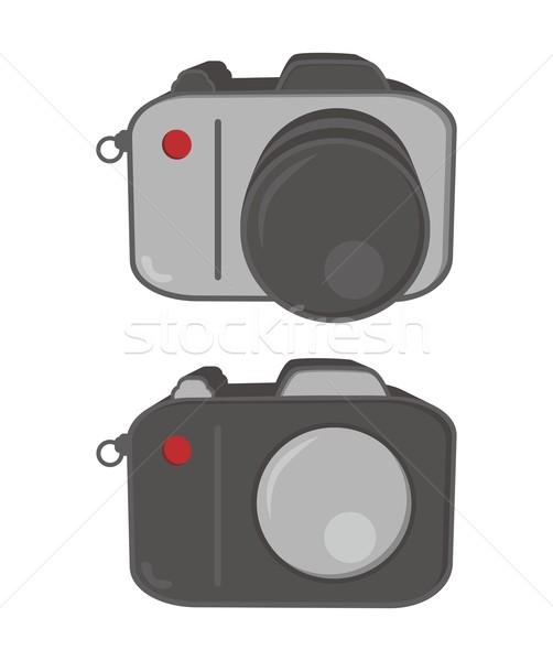 Mediów interfejs kamery wektora graficzne sztuki Zdjęcia stock © vector1st