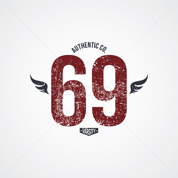 varsity number garment theme Stock photo © vector1st