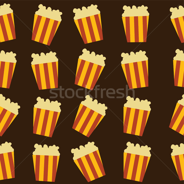 Sabroso pop maíz vector arte ilustración Foto stock © vector1st