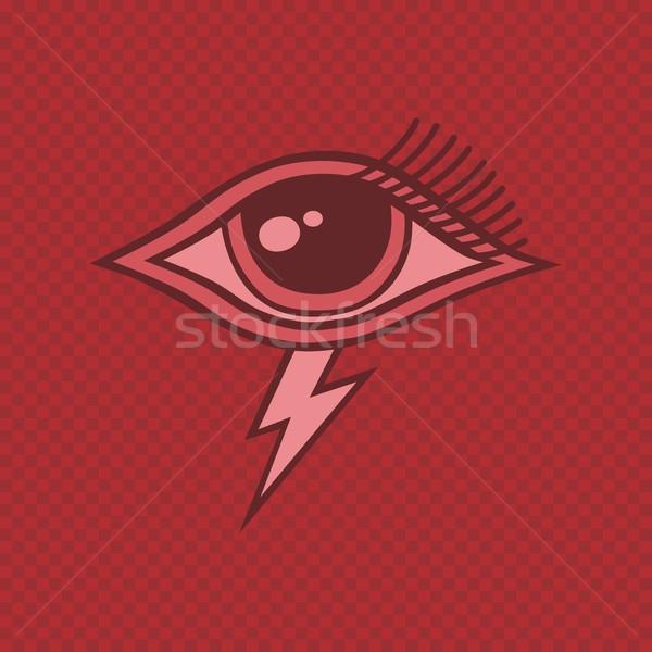Сток-фото: глаза · вектора · искусства · иллюстрация · путешествия