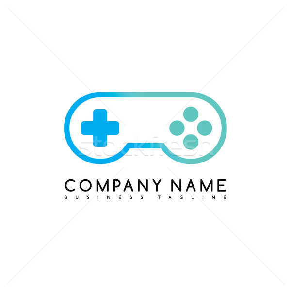joystick game brand company template logo logotype vector art Stock photo © vector1st