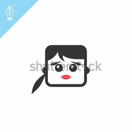 Tér forma vicces rajz fej vektor Stock fotó © vector1st