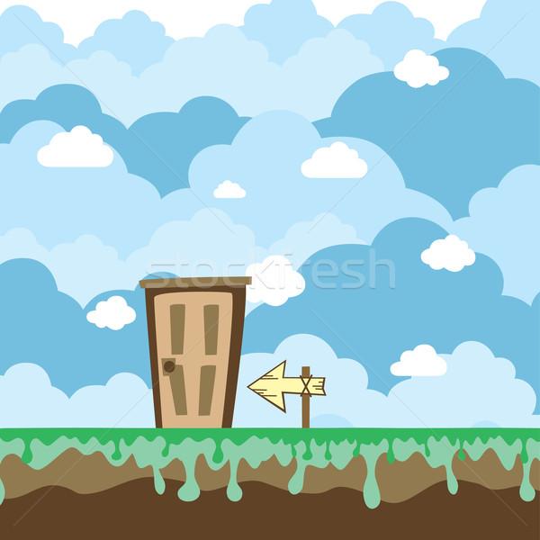 ゲーム プラットフォーム 世界 ドア ベクトル 芸術 ストックフォト © vector1st