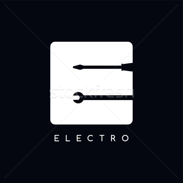 mechanic logotype theme letter E Stock photo © vector1st