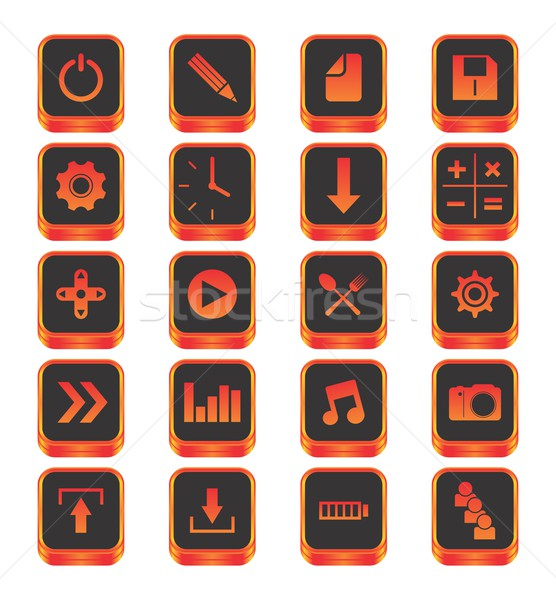 icon button theme Stock photo © vector1st