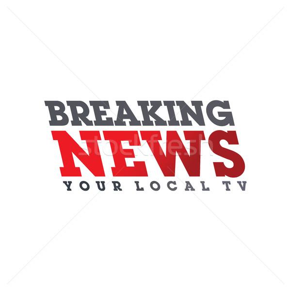Rendkívüli hírek vektor művészet grafikus illusztráció televízió Stock fotó © vector1st