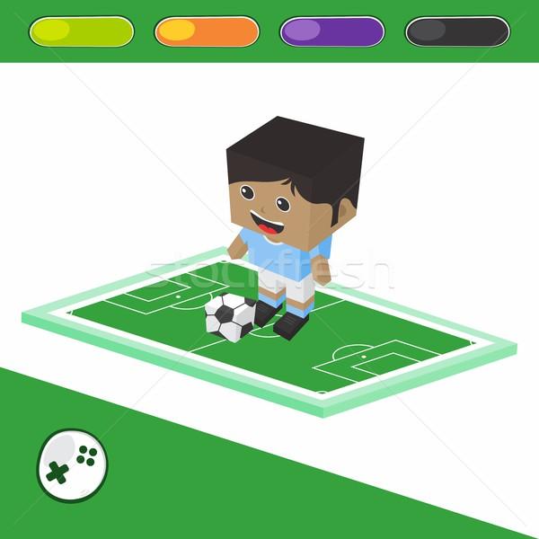 Piłka nożna izometryczny wektora sztuki graficzne Zdjęcia stock © vector1st