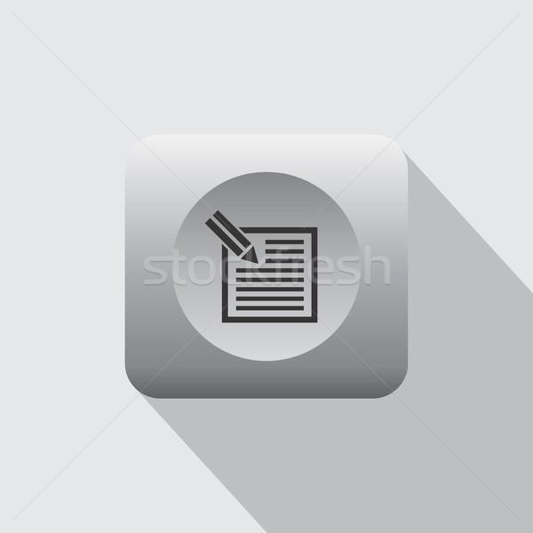 документа икона компьютер вектора искусства иллюстрация Сток-фото © vector1st