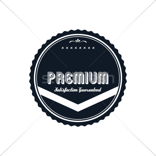 premium label vintage quality badge theme Stock photo © vector1st