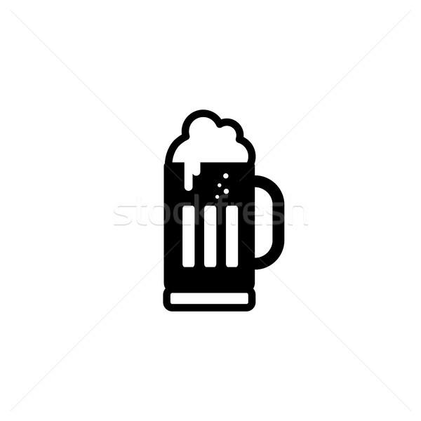 Soğuk cam bira vektör sanat örnek Stok fotoğraf © vector1st