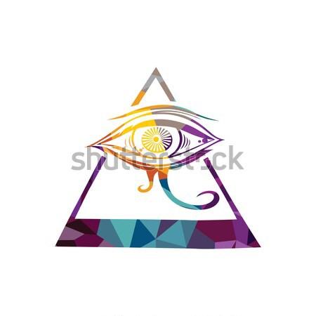 Stock photo: all seeing eye theme logo template