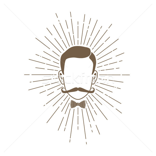 retro hipster gentleman character vintage theme Stock photo © vector1st
