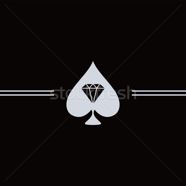 spade diamond art Stock photo © vector1st