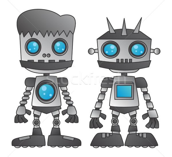 Robô vetor gráfico arte projeto ilustração Foto stock © vector1st