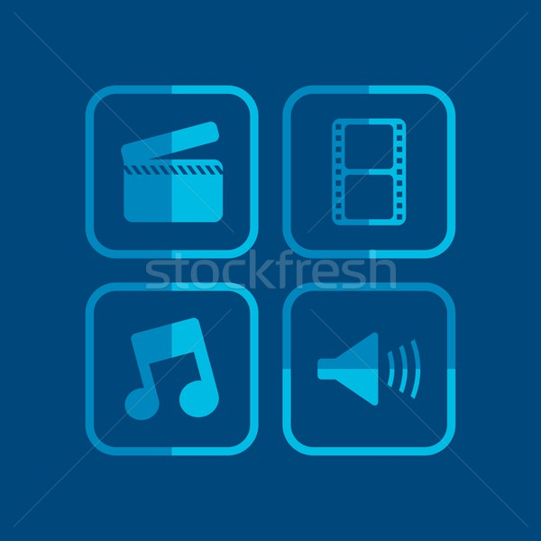 movie theme icon Stock photo © vector1st