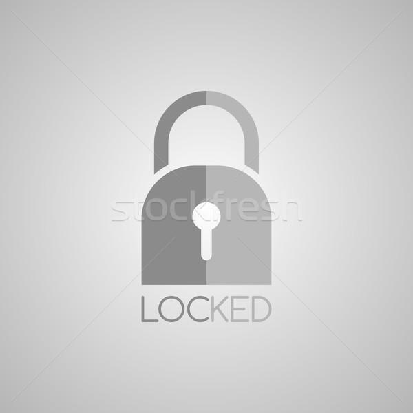 блокировка защиту гвардии вектора искусства иллюстрация Сток-фото © vector1st