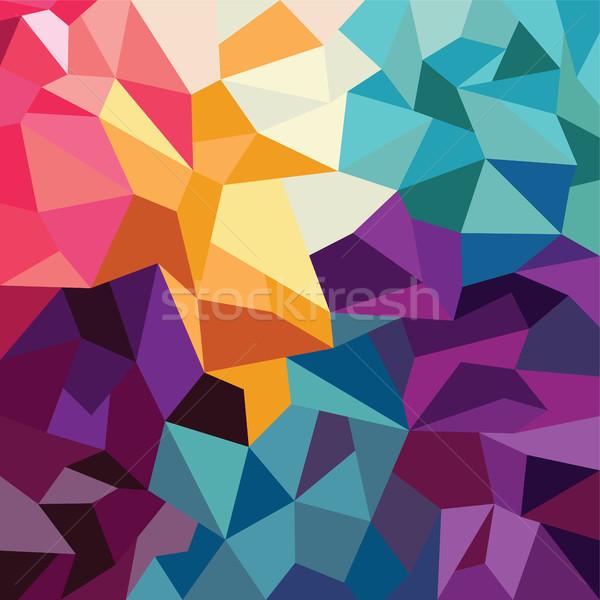 Soyut renkli üçgen geometrik doku mavi Stok fotoğraf © vector1st