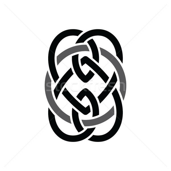 Celtic negro resumen floral logo Foto stock © vector1st