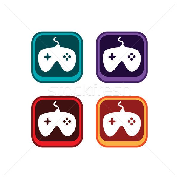 Renk uygulaması ikon düğme oyun Stok fotoğraf © vector1st