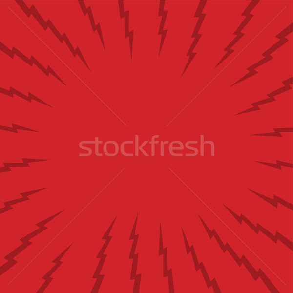 red thunder theme background art Stock photo © vector1st
