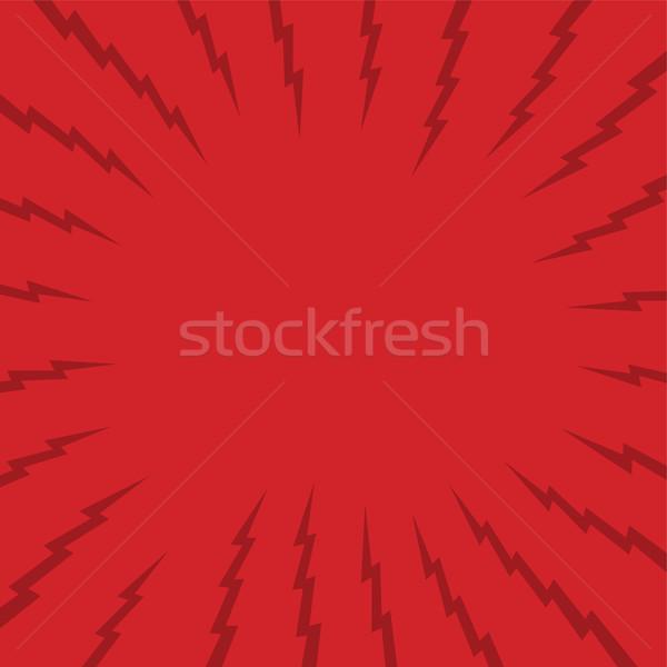 Rouge Thunder art vecteur Photo stock © vector1st