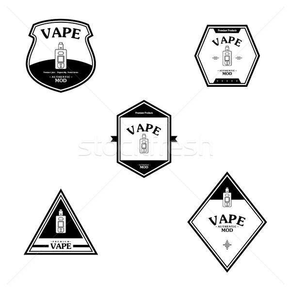 Elétrico cigarro pessoal retro etiqueta distintivo Foto stock © vector1st