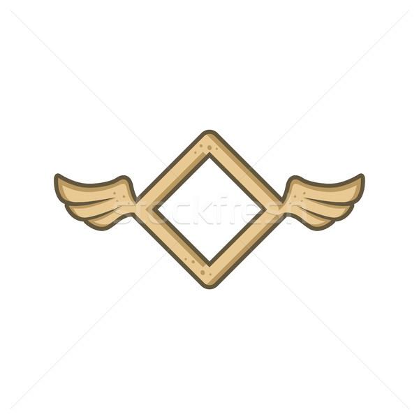 Dimenzió forma angyal madár szárny vektor Stock fotó © vector1st
