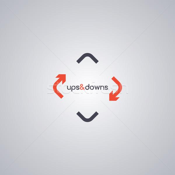 Döndürmek ok logo şablon vektör sanat Stok fotoğraf © vector1st