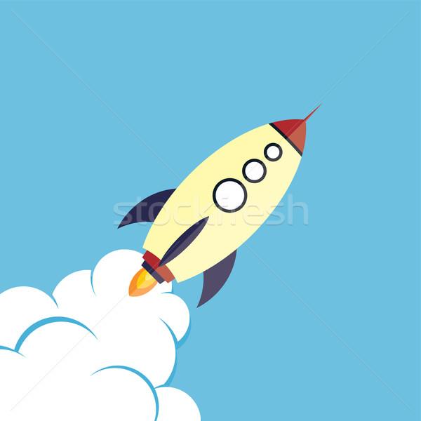 Stok fotoğraf: Roket · gemi · vektör · sanat · örnek