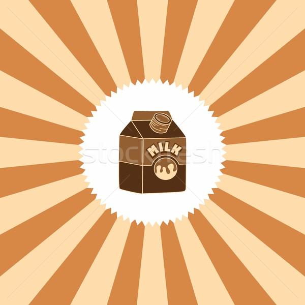 żywności pić mleka graficzne sztuki restauracji Zdjęcia stock © vector1st