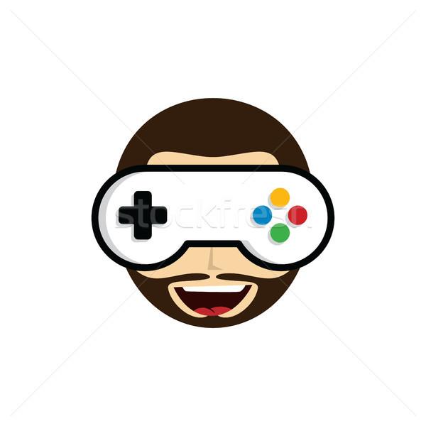 Oyun guru video oyunu logo Stok fotoğraf © vector1st