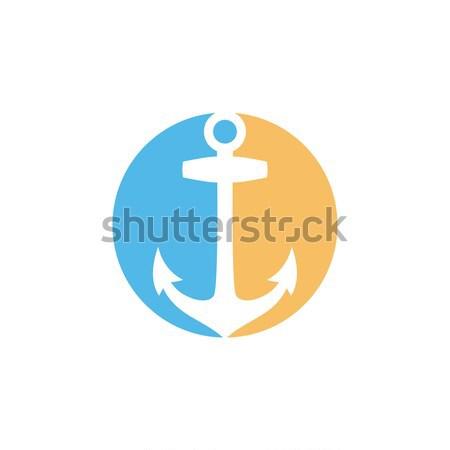 Cirkel vorm stijl icon logo vector Stockfoto © vector1st