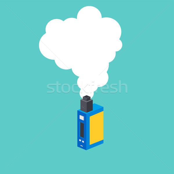 isometric block electric cigarette personal vaporizer Stock photo © vector1st