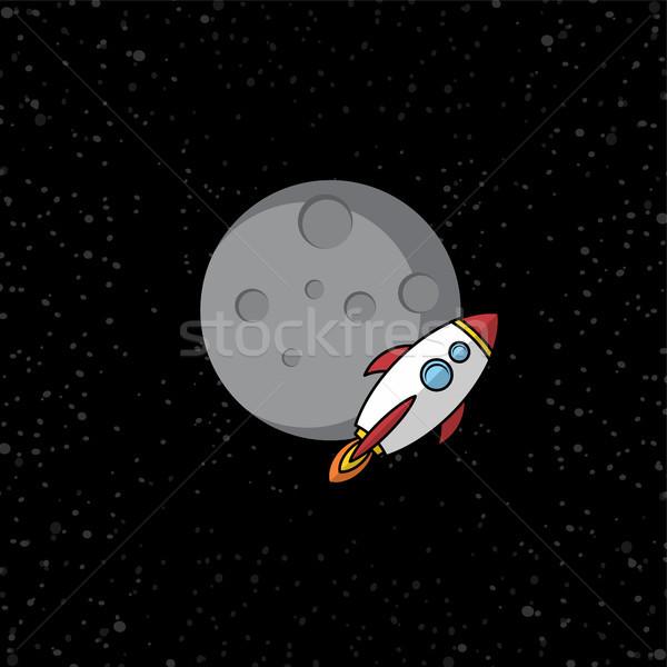 űr rakéta vektor művészet nap tudomány Stock fotó © vector1st