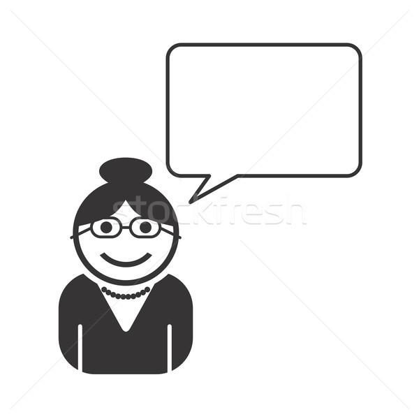 Avatar portret foto icon vector grafische Stockfoto © vector1st