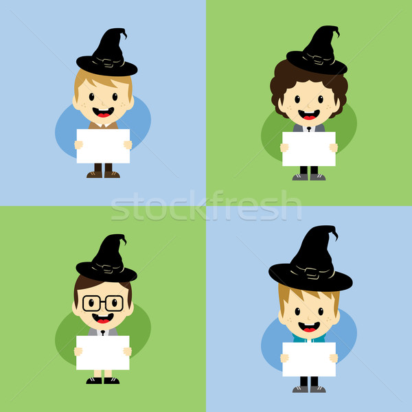 Halloween vecteur art illustration vacances Photo stock © vector1st