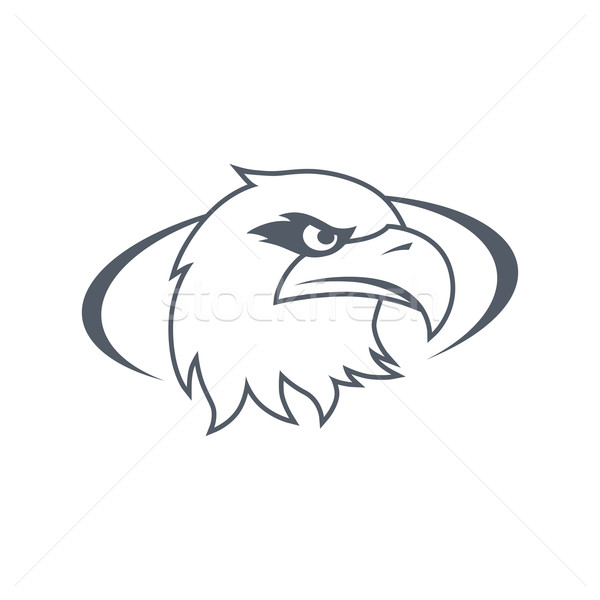 bold eagle template Stock photo © vector1st