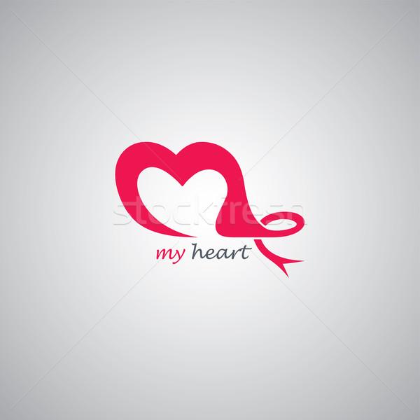 Amore logo modello vettore arte illustrazione Foto d'archivio © vector1st